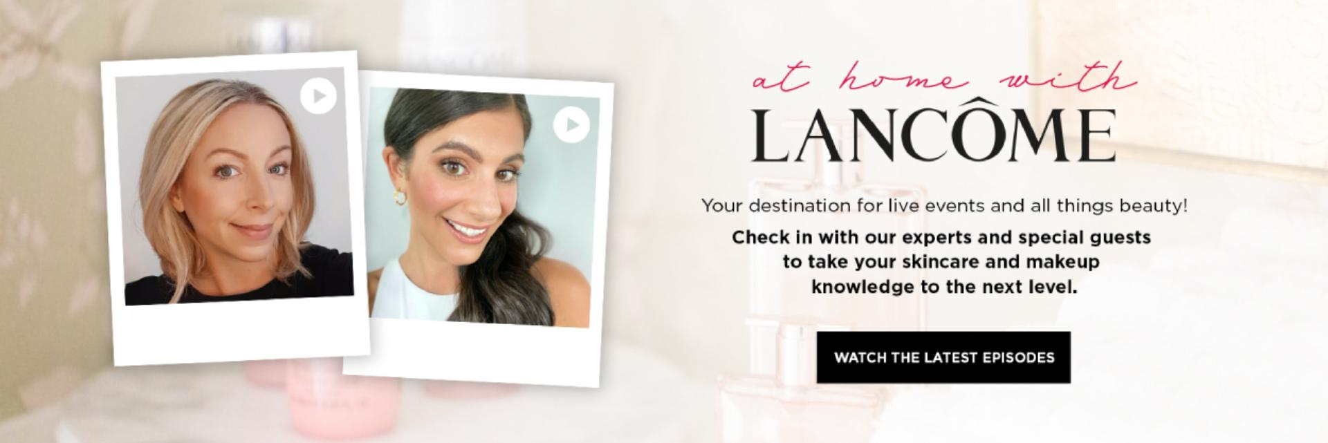 At Home With Lancome Banner